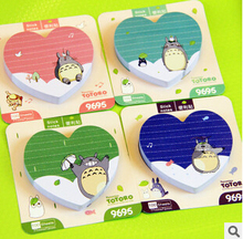 7*7cm Kawaii Totoro Memo Notepad Notebook&Memo Pad Self-Adhesive Sticky Notes Bookmark Promotional Gift Stationery(China (Mainland))