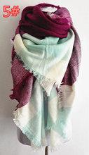 za Winter 2016 Tartan Scarf Desigua Plaid Scarf New Designer Unisex Acrylic Basic Shawls Women's Scarves Big Size scarf(China (Mainland))