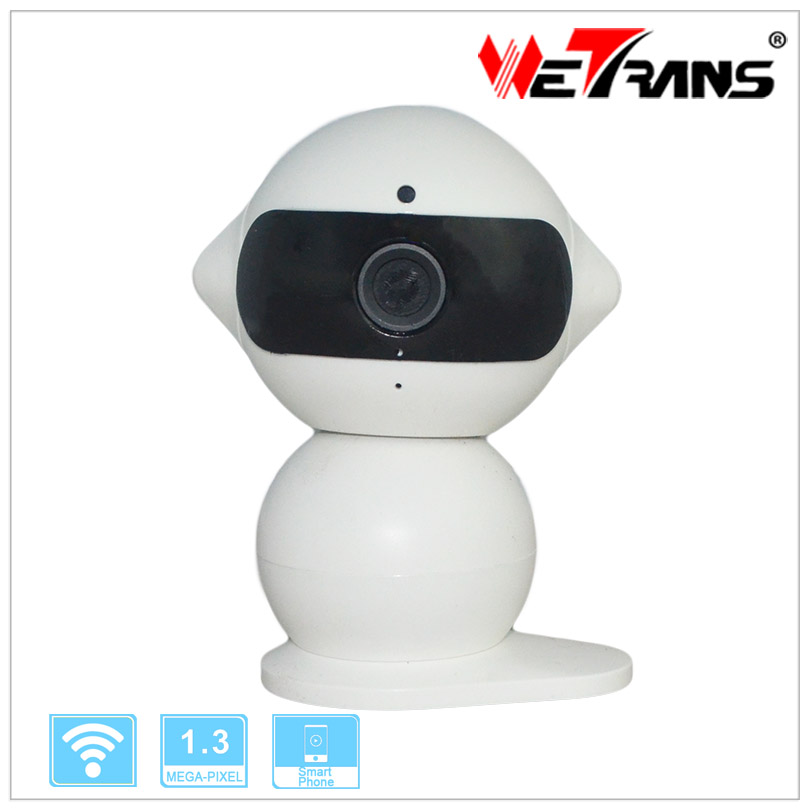 Wifi IP Camera Robot 1.3MP 1280*960P P2P Two Way Audio 5m Night Vision Micro SD Card IP Security Camera Wireless(China (Mainland))