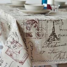 Linen Table Cloth Woven Printed Europe Eiffel Tower Home/Outdoor/Party Size:60*60-140*220 Christmas Toalha De Manteles Para Mesa(China (Mainland))