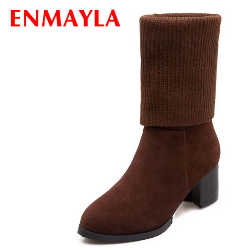 Knitting Shoes Suppliers : Popular winter knitted boots buy cheap