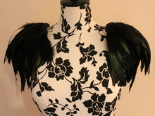 Free shipping,  rooster feather shoulder epaulette #FSP13002(China (Mainland))