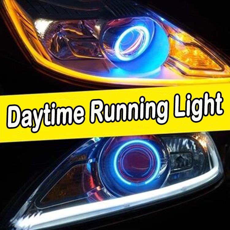 60CM LED Daytime Running Light 5 Colors Light Bar Monochrome turn signals LED Soft light Car Styling LED Strip(China (Mainland))