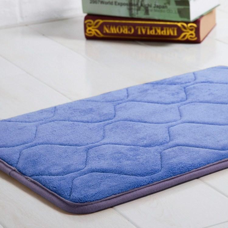 rebound memory foam absorbent mats bath mat coral