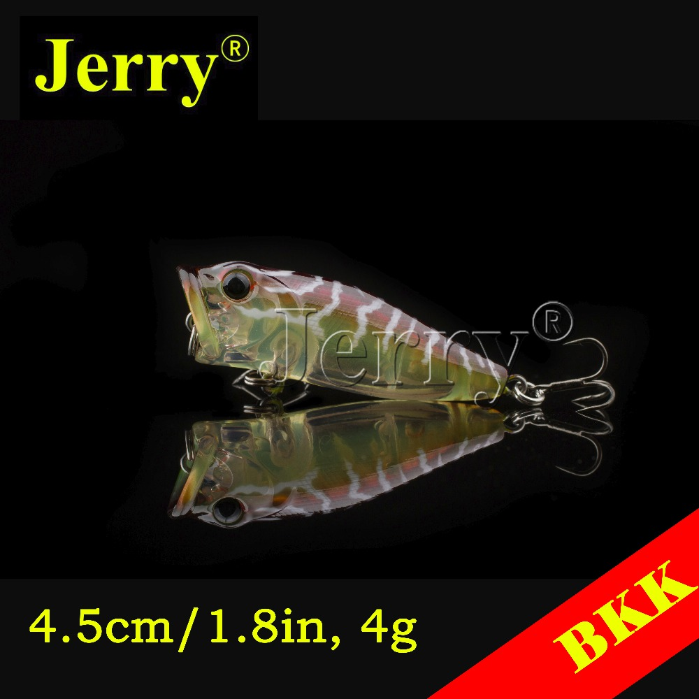 Jerry 1pc Japan popper 4.5cm/1.8in 4g BKK hook bait plug top water surface fishing gill opening bass trout salmon green white<br><br>Aliexpress