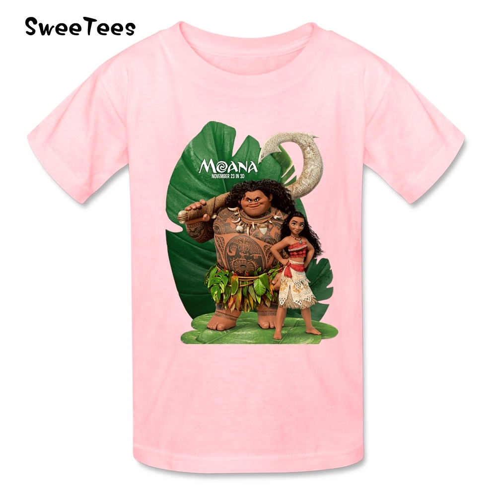 Moana T Shirt Baby Cotton Short Sleeve Crew Neck Tshirt Children Tee Shirt 2017 Discount T-shirt For Boys Girls Infants Toddlers(China (Mainland))