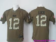 2016 Men Indianapolis Colts #12 Andrew Luck Green Salute To Service Limited(China (Mainland))