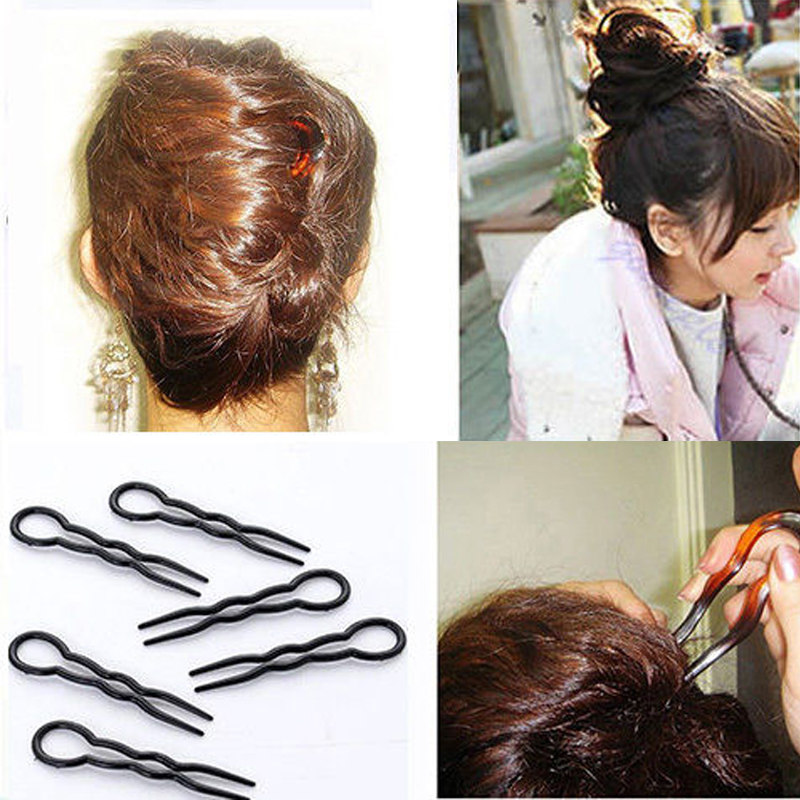 Hot 3 Pcs/Set 2017 Women Ladies Round Toe U-shaped Hair Pins And Clips Bobby Pin Barrette Hair Accessories 2 Colors Headpiece(China (Mainland))
