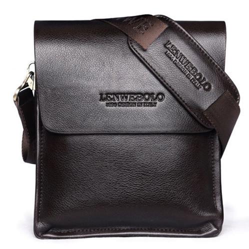2017 Men's Genuine Leather Handbag Bussiness Briefcase Man Shoulder Bag Free Shipping(China (Mainland))
