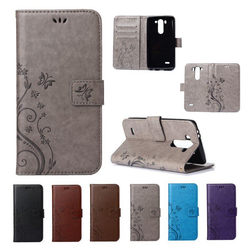 Luxury Pattern G3 Phone Case Multi-function Wallet Case For LG G3 Mini D725 PU Leather Flip Cover With Card Slots Cover Case(China (Mainland))