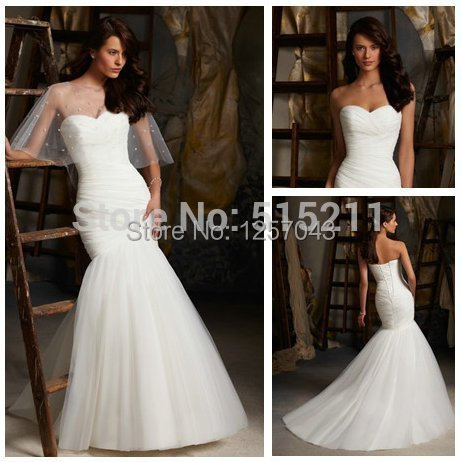 Beautiful pleats ivory organza cheap price short train low for Beautiful ivory wedding dresses