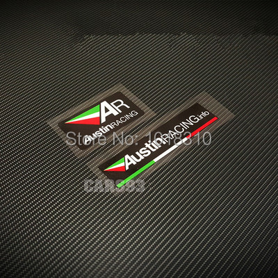 Austin Racing Italy AR Exhaust Reflective Stickers for Car Motor Helmet etc(China (Mainland))