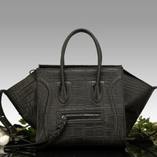 crocodile pattern genuine leather large neverfull 2016 designer brand women big tote bolsas femininas phantom smiley bag fashion