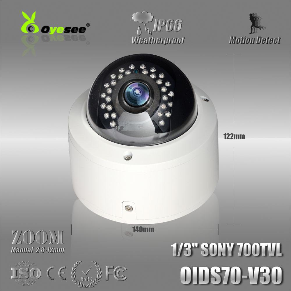 OIDS70-V30 CCTV Camera 700TVL Effio-E 960H CCD Manual Zoom 2.8-12mm Megapixel Lens Dome Camera cctv camera online buy(China (Mainland))