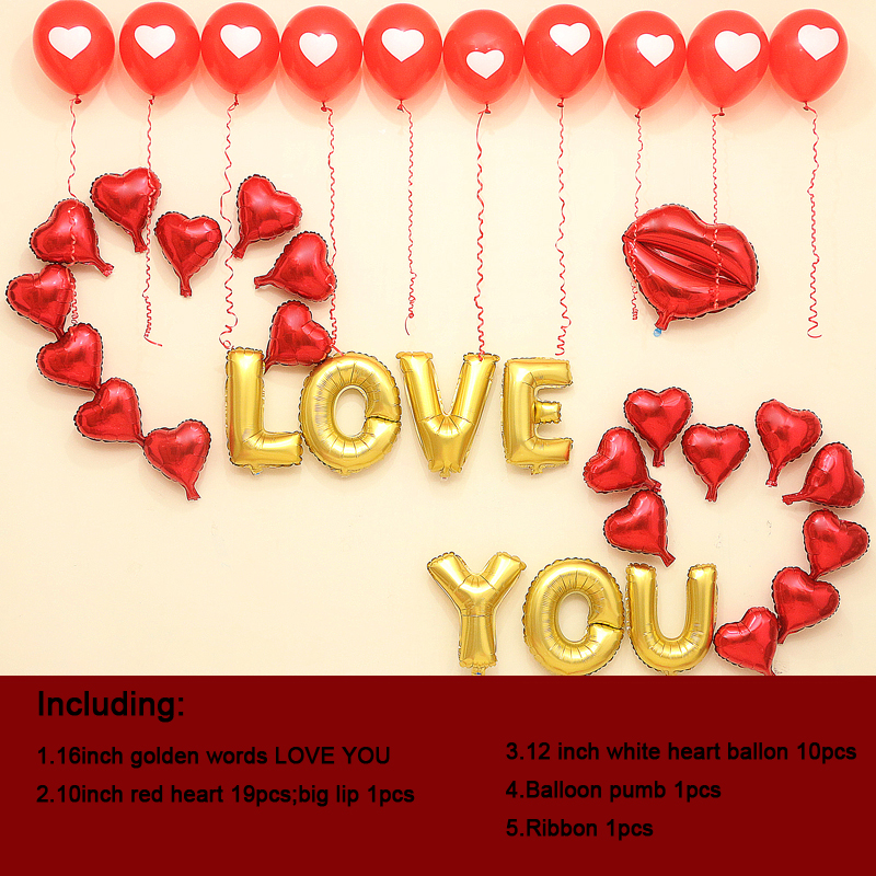 I Love You Letter Balloons Online Buy Wholesale Heart Balloon Pump From China Heart