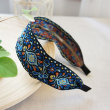 Buy Newest Women Bohemian Women Ethnic Embroidered Ribbon Hairbands Headband Hair Accessories Beautiful Ethnic Pattern Wide Turban for $3.35 in AliExpress store