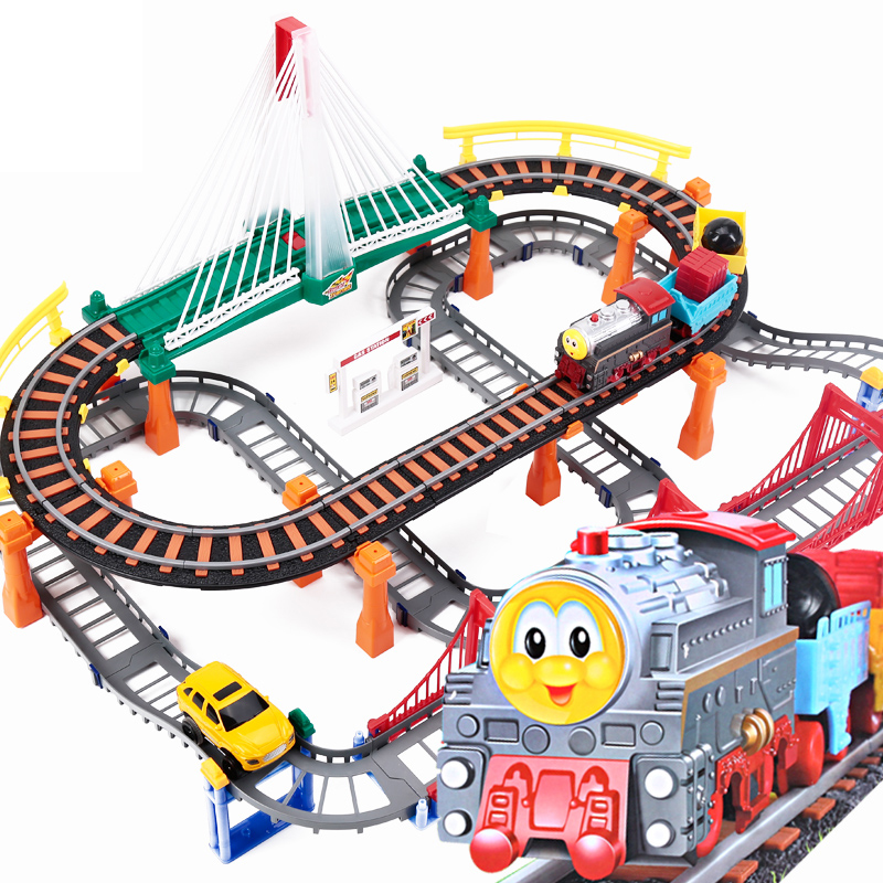 Thomas train set electric track car toy automobile race gift - Discovery future store