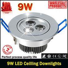 1pcs/lot 9W Ceiling downlight Epistar LED Spot ceiling lamp Recessed light 85V-245V for home illumination Brand Wholesale