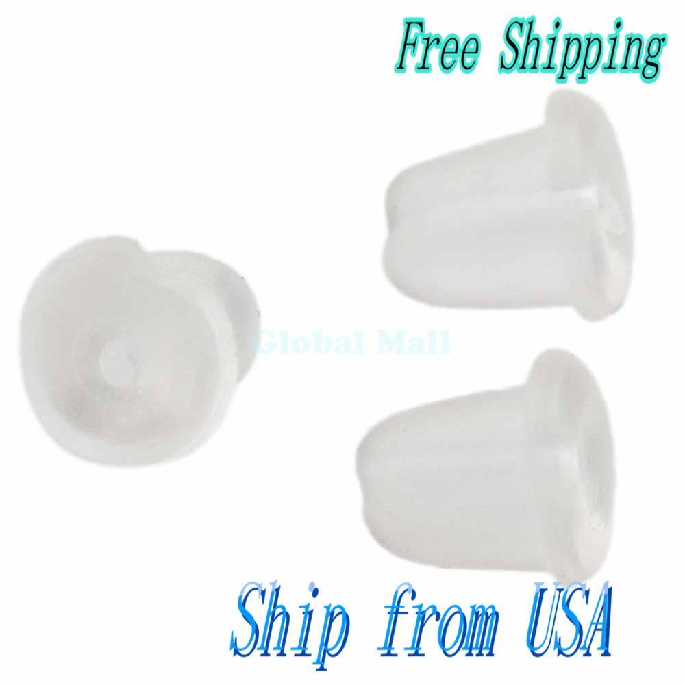 Ship From USA 200pcs Dome Shaped Rubber Earring Sleeve S2072(China (Mainland))