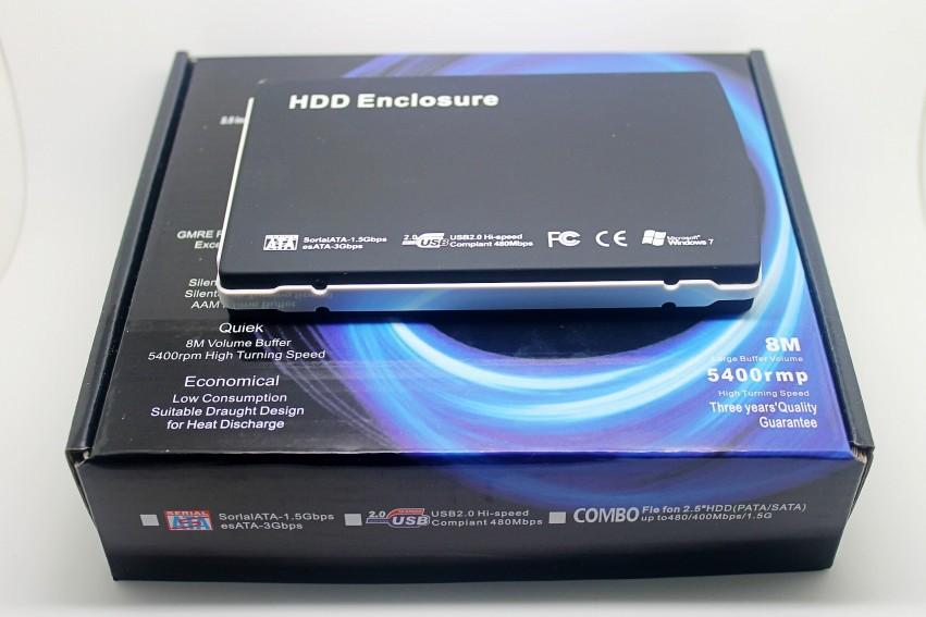 Hot New 2.5 hd externo USB 2.0 HARD DRIVE SATA EXTERNAL CASE ENCLOSURE 500GB for external hard drive HDD Enclosure Free shipping(China (Mainland))