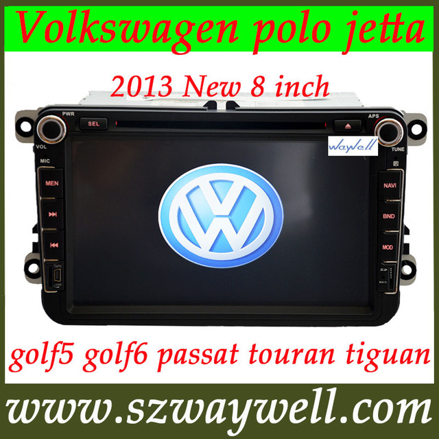 8 inch 2 DIN Car DVD radio  player for VW Volkswagen polo jetta golf5 golf6 passat touran tiguan GPS navigation