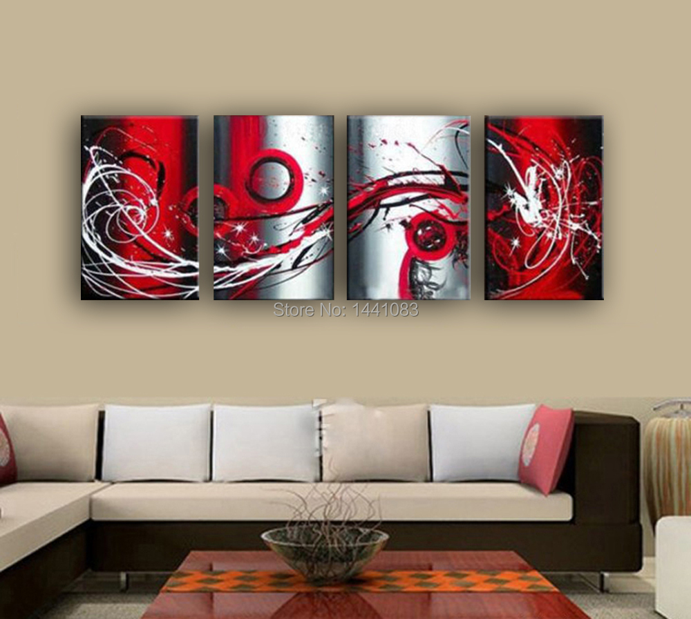 Red Black And Gray Wall Decor : High quality piece set grey white black and red passion