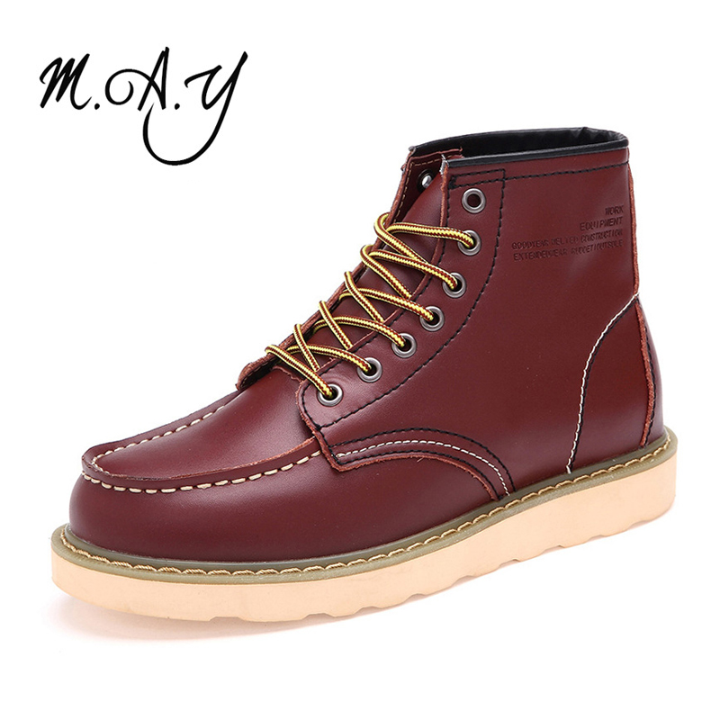 2015 Men Boots Handmade Genuine Leather Shoes Winter Men Boots Fashion Ankle Motorcycle Boots Men Warm Boots Martin Shoes 0027