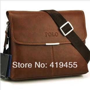 Top Fashion2014 excellent quality brand brown briefcase shoulder bag men leather messenger bags BG0185(China (Mainland))