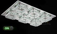 AC100-240V L68*W45cm Modern 72W LED Crystal Ceiling Light Square lustre Ceiling lamps Lustres for home decor