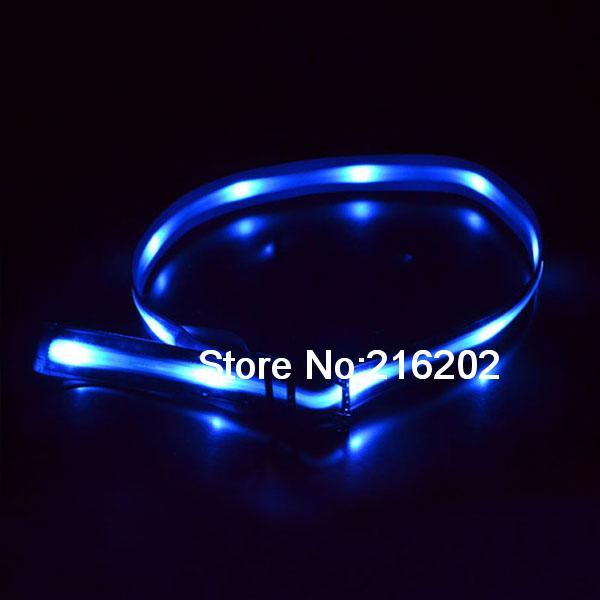 Dancer LED light waistband unisex GM Blue(China (Mainland))
