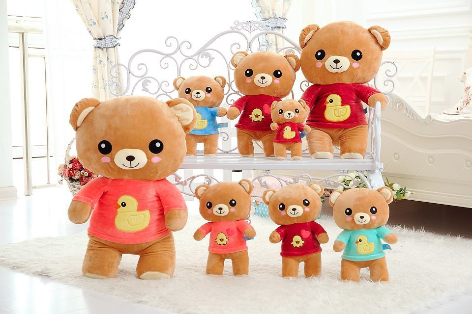 Happy relaxed bear / the best price and high quality size 45cm Christmas gift / free shipping(China (Mainland))