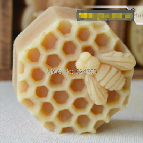 New Easy To Demould Honeycomb Soap Salt Sculpture Silicone Cake Mold Chocolate Decorated Candle Mold Bakeware Cooking Tools(China (Mainland))