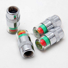 1 Set 4pcs Car Tyre Tire Pressure Monitor Indicator Valve Stem Cap Sensor 3 Color Eye Alert(China (Mainland))