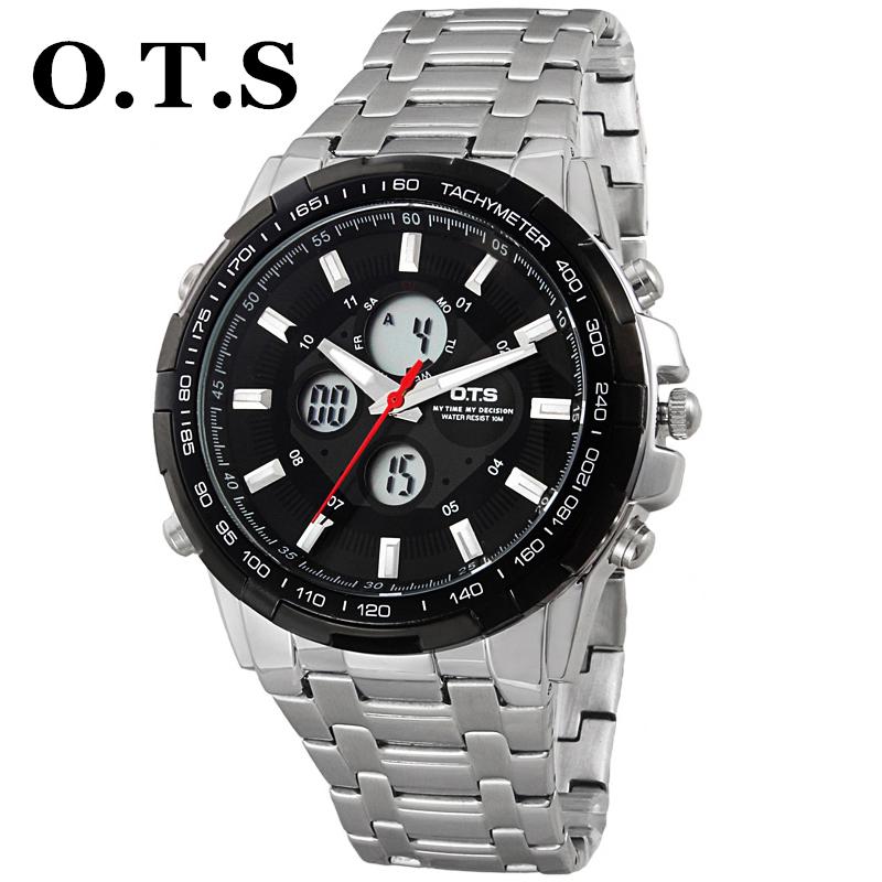 Fashion Quartz Watch OTS SPORTS Stainless Steel role Watches Men Luxury Brand 3TM Waterproof Relogio Masculino men wristwatches(China (Mainland))