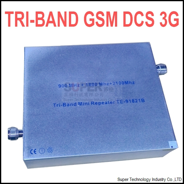 27 dbm gain 65 dbi triband GSM DCS 3G booster repeater TRI- bands booster DCS repeater 3G booster gsm repeater GSM BOOSTER(China (Mainland))