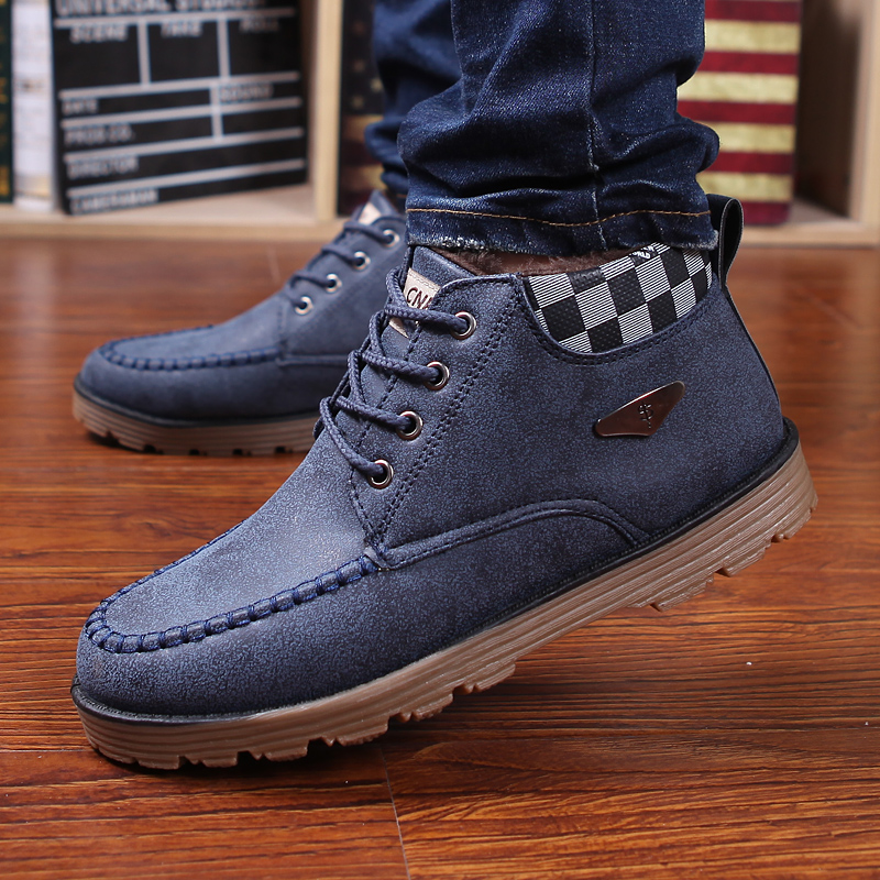 Cotton-padded shoes winter men shoes casual leather fashion shoes men's boots plus velvet thermal snow boot