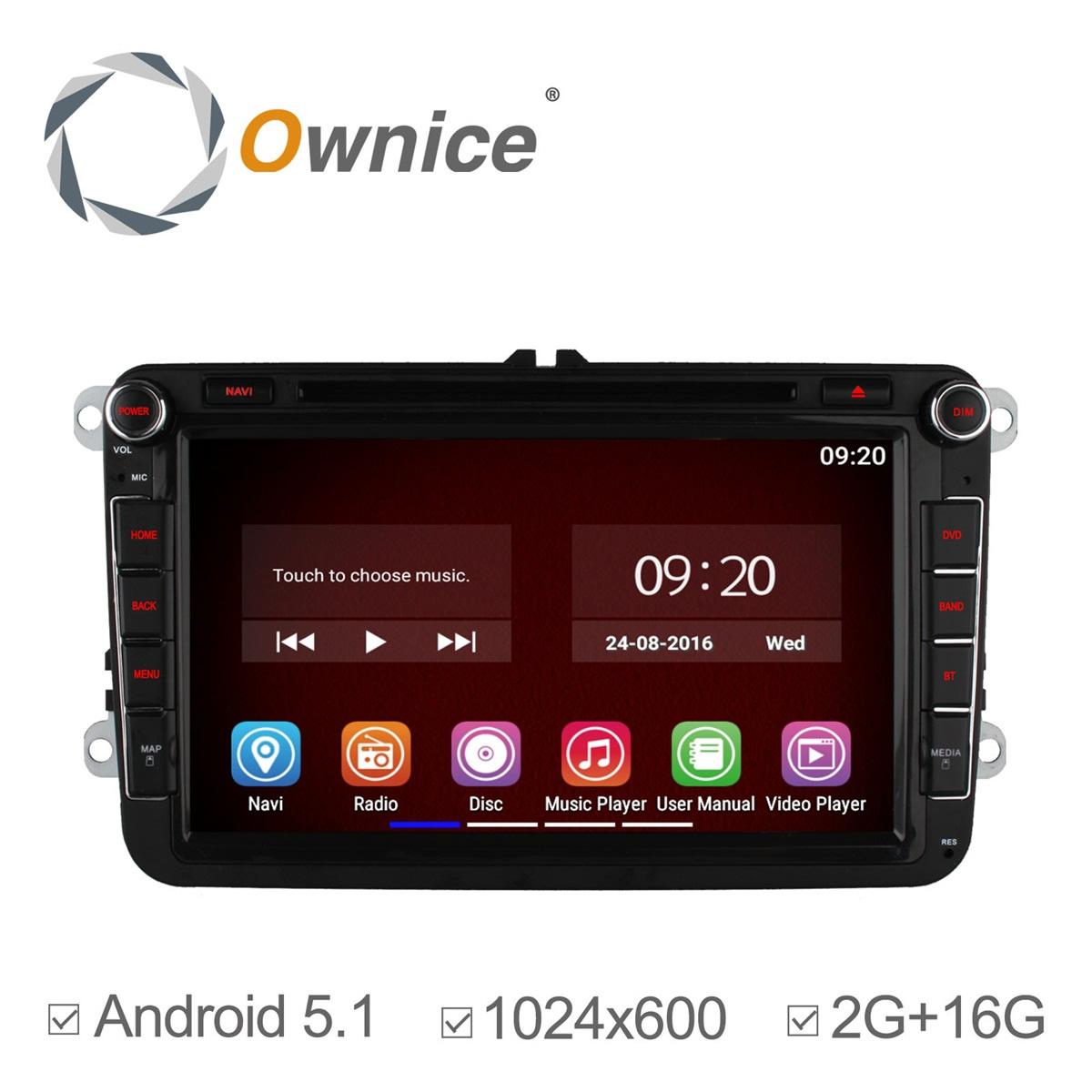 Ownice Pure Android 5.1 Quad Core Car DVD GPS for VW Jetta Polo Tiguan Golf Passat B5 B6 Volkswagen Radio Bluetooth 2G/16GB(China (Mainland))