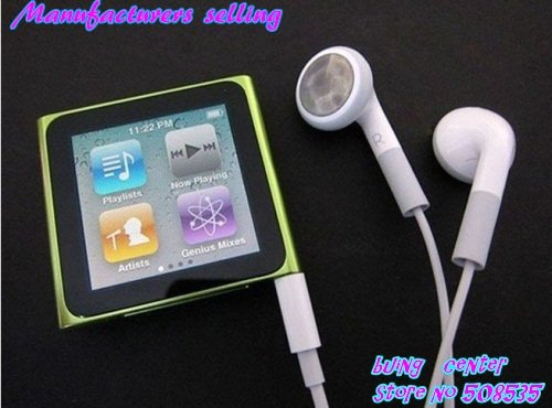 Cheap, guarantee really 2G memory 6Gen 1.8 inch touch TFT screen mp3 mp4 player with 1pcs,Free Shipping(China (Mainland))
