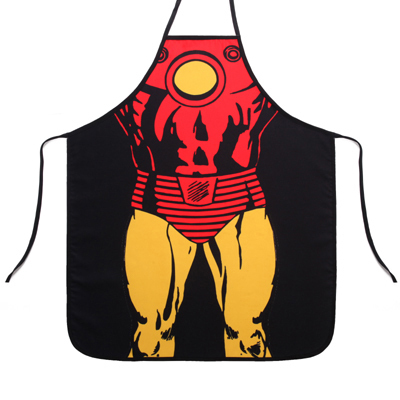 Special New Novelty Men Personality Superman Iron Man Kitchen Cooking Party Dress Fun lovers Man Waterproof Apron funny gift(China (Mainland))