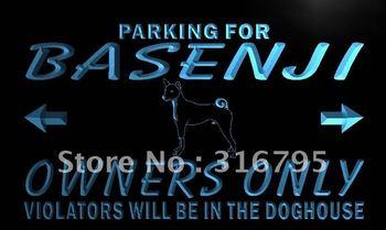 n121-b Basenji Owner Parking Only LED Neon Light Sign