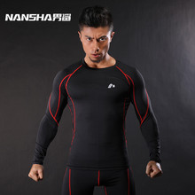 Buy NANSHA Mens Fitness Long Sleeves T Shirt Men Bodybuilding Skin Tight Breathable Spandex Compression Shirts Crossfit Workout Tops for $8.99 in AliExpress store