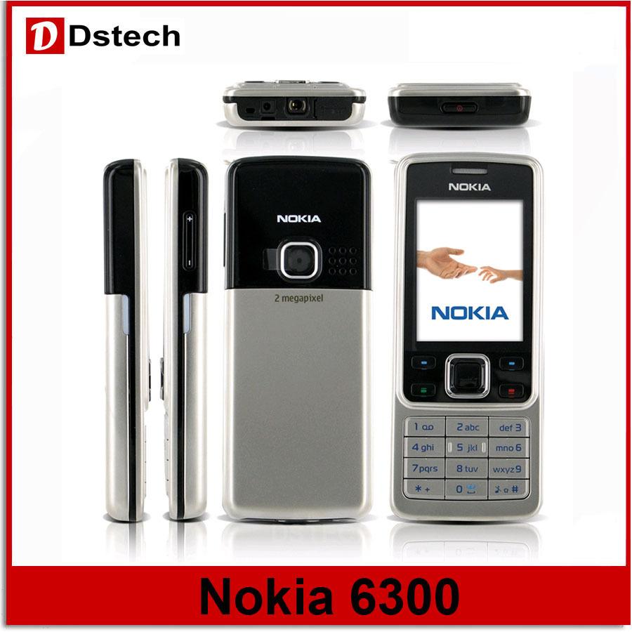 Nokia 6300 original bar nokia 6300 cell phone 2MP Camera bluetooth MP4 freeshipping