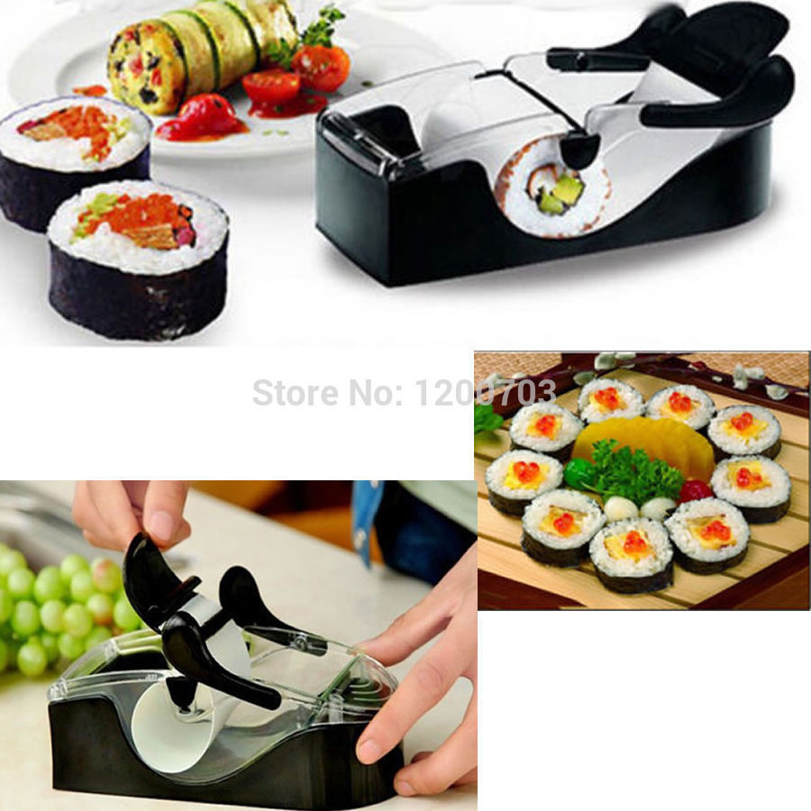 D19 Newest DIY Sushi Roller Cutter Perfect Machine Roll Magic Maker Kitchen Tool Gadgets free shipping(China (Mainland))