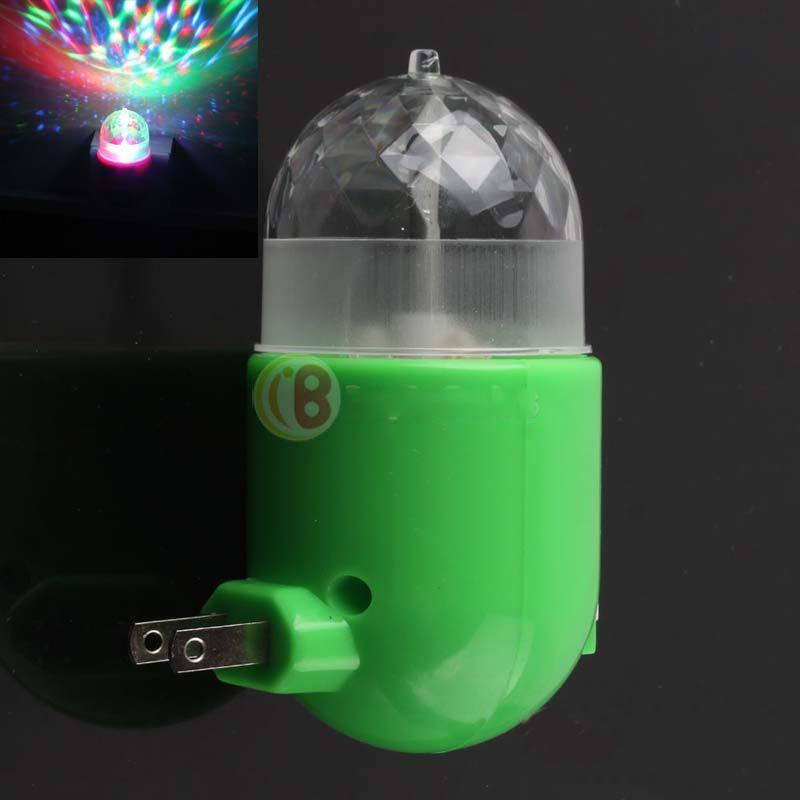 HOnesteer Hot promotion! RGB LED Crystal Stage Rotating Color Light Bulb Party Disco DJ Lamp US Plug Rising stars(China (Mainland))