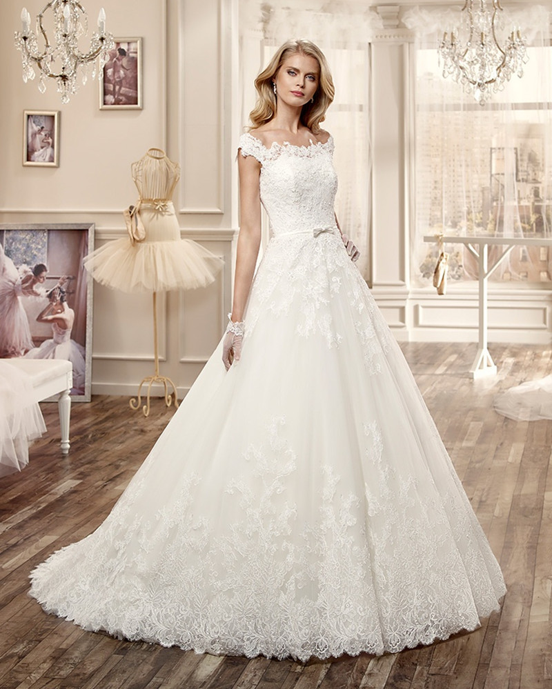 Classic princess style wedding dress 2016 new designers for Applique for wedding dress