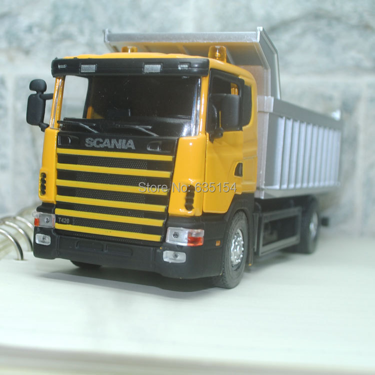 Wholesale 3pcs/pack Brand New 1/43 Scale Cool Sweden Scania Series Dump Truck Diecast Metal Car Model Toy(China (Mainland))