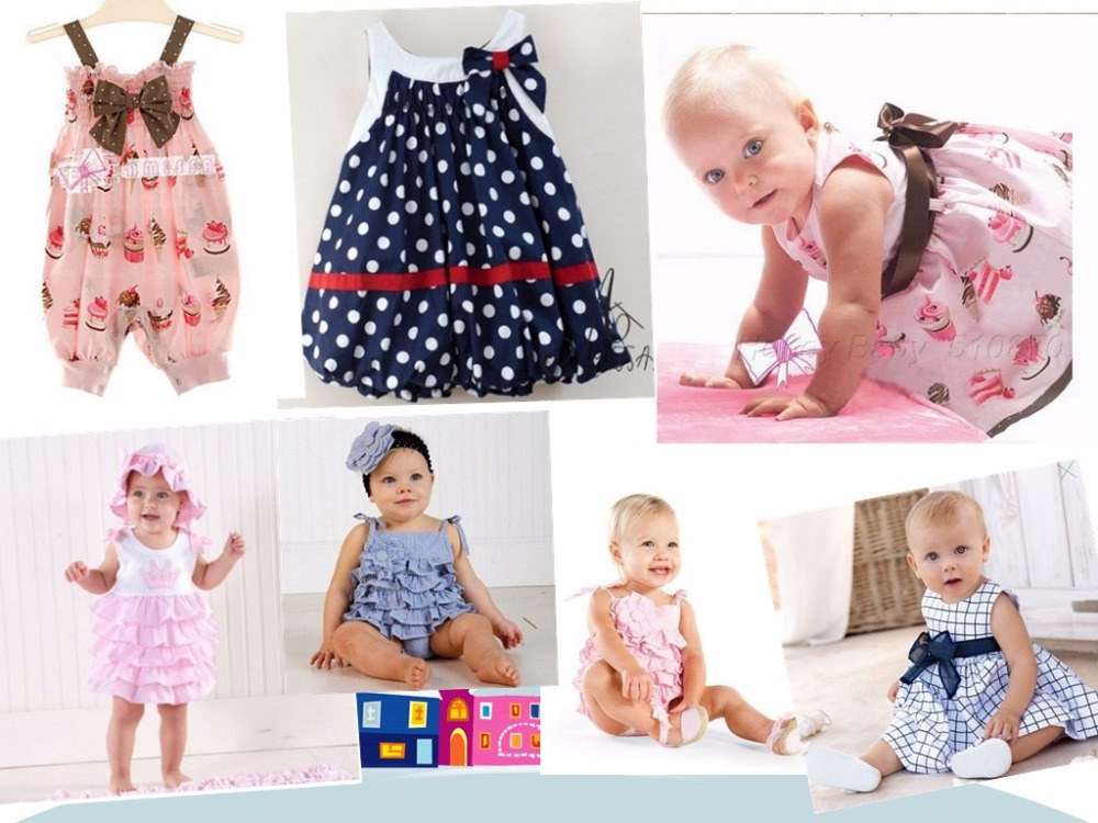 HB0038 Retail wholesale baby dress/soft and cute bowkont princess dress baby girl/sleeveless cool summer/Free shipping HoneyBaby(China (Mainland))