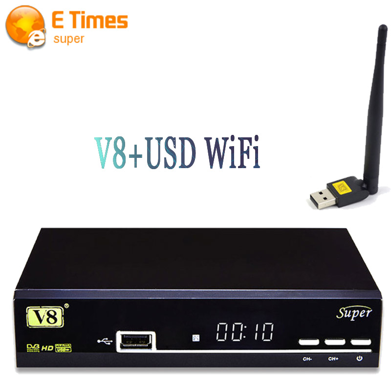 Original V8 Super DVB-S2 Digital Satellite Receiver + 1 PC USB Wifi Support Cccam newcam mgcamd IPTV Youtubo HD Tv Set-top Box(China (Mainland))