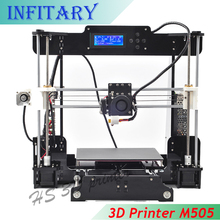 Updated Big size 220*220*240mm High Quality Precision Reprap Prusa i3 DIY 3d Printer kit Melzi Mainboard 8GB SD card LCD Screen