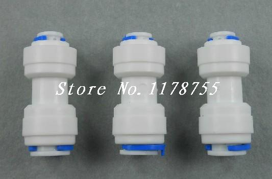 3PCS 1/4 inch OD Tube * 3/8 inch OD Tube Straight Quick Connect RO Water Tube Connection Without the trouble Of Nut(China (Mainland))